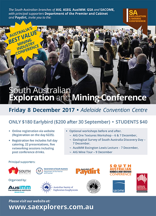 South Australian Exploration and Mining Conference 2017